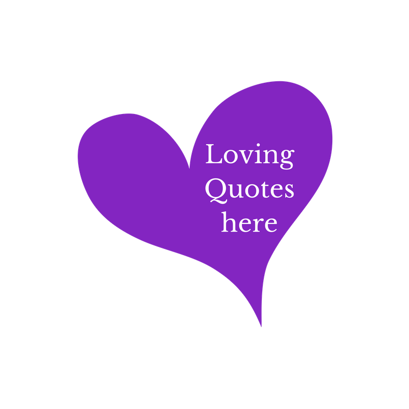 purple heart with lettering loving yourself quotes here